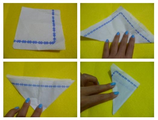 Not origami se orita papaya - Origami con servilletas ...